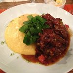 oxtail with polenta - AWESOME!