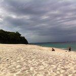 2 min walk to this quiet clean beach.