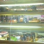 Some of the cakes/tarts on offer.
