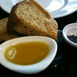 Hot bread with Mineral salt and Olive oil Yummy