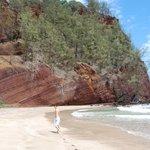 Red sand cliffs