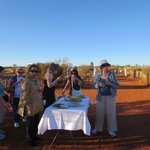 Snack table, Ayers Rock look out site