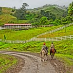 Rounding the corner during the horseback leg of the trip