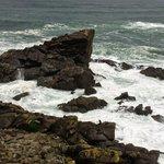 A very rocky and windy coast