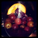 We finished our pitcher of sangria and enjoyed the fruit at the end :)