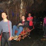 Alex sampling my chair ride through Silver Cave