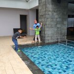 windy pool