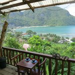 View from front porch over El Nido
