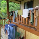 Laundry day on the porch