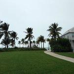 Walking on the grounds toward the beach and Tiki Bar