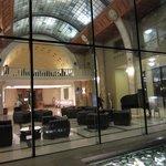 Lobby seen from inner patio