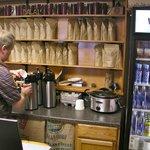 Scott hand roasts the Fair Trade, organic coffee beans