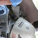 Borken boat motor