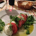 Caprese Salad at Trattorie 30 seconds walk away