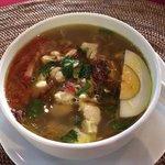 the starter: Chicken Soup
