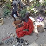 a local Turkana vendor at the nearby market