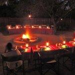Outdoor evening meals