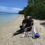 Between dives at Voua beach