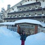 Hotel entrance - ski in ski out