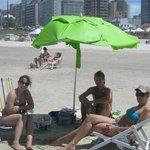 Na praia Grande, em Torres.