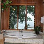 The bathtub overlooking the ocean