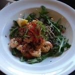 Chilli and garlic prawns
