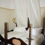 Beds with mosquito netting