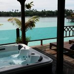 private jacuzzi - what a view!