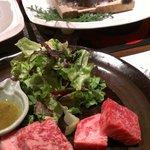 北海道のお肉と静岡のお肉を食べ比べ