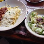Lunch Combo - Salad, Mizithra & Meat Sauce