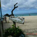 Restaurant fronts Puka Beach