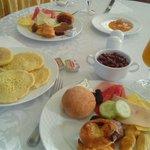 petit déjeuner au restaurant de l'hotel