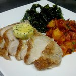 Menu of the week: roasted turkey with lemon butter herb, crispy spinach and potato in spicy sauc