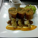 Menu of the week: puff pastry wrap in special La Fuente combination serve w parmesan cracker, he