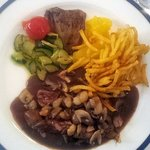 Kidneys with red wine sauce
