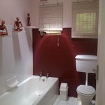 Shared bathroom with bath