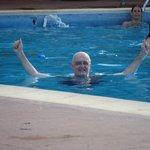 La piscina, amplia y siempre limpia