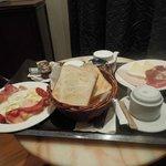 colazione in camera stupenda