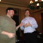 Lyman and Eric singing Happy Birthday