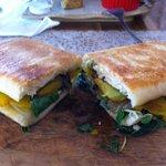 Spinach, Pumpkin Sandwich