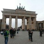 Puerta de Brandenburgo, durante el tour.