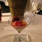 Delicious dessert at Taller de Cuina Carmen Guillemot Alcanar
