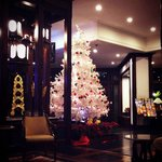 lobby of Christmas time