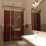 bathroom with double washbasin