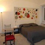 bedroom with fresco