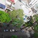 View of street down below