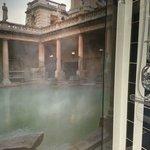 Beautiful Roman Baths Mural in the Shower!