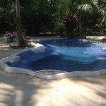 klein maar fijn zwembad in mooie tuin
