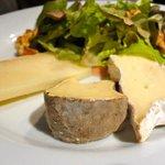 Assiette de fromage (Brie, Saint-Nectaire et Kukulu)