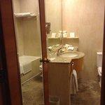 bathroom was clean and had enough room